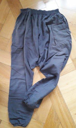 Sarouel gris coton
