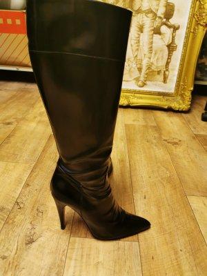 Prada Heel Boots black-pink leather