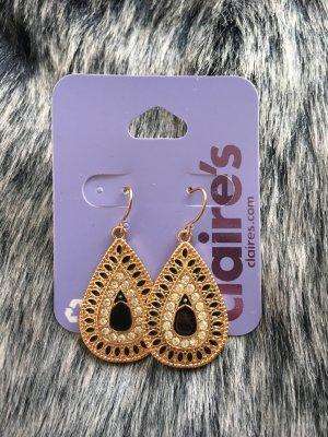 Orientalisch Ohrringe in schwarz Gold