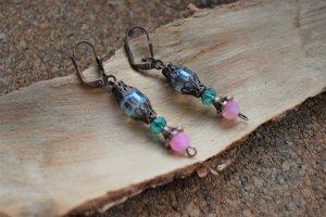 Orientalische Ohrringe mit Achat steine Gipsy Vintage