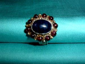 Ring purple-dark blue metal