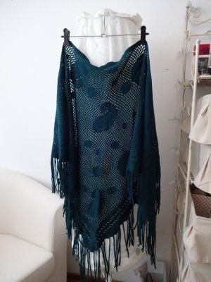 orientalischer Schal dreieck paisleymotiv fransen