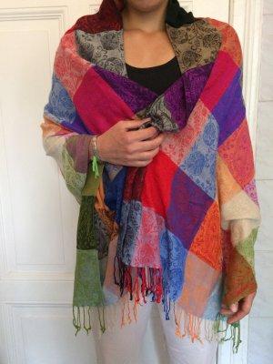 Orientalischer Schal, kunterbunt, floral