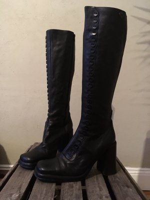 Buffalo High Boots black leather