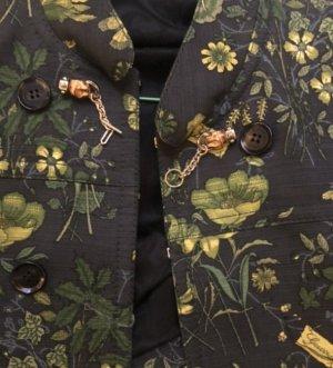 Gucci Bouton noir-brun foncé