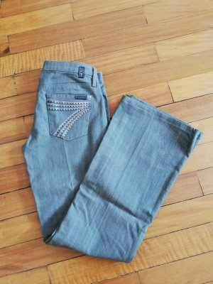 7 For All Mankind Jeans a zampa d'elefante argento-grigio