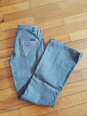 Orig. 7 for all mankind Dojo Jeans 26 Silber grau