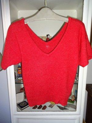 V-Neck Sweater raspberry-red