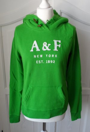 orig. A&F Abercrombie & Fitch Hoodie Gr. L grün