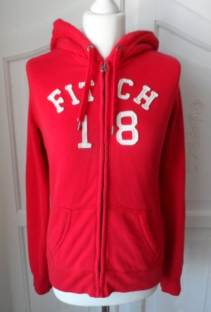 Abercrombie & Fitch Sweat Jacket red-white mixture fibre