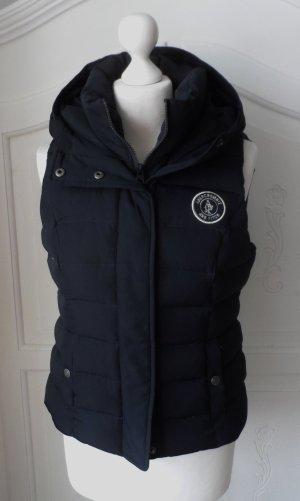 Abercrombie & Fitch Down Vest dark blue mixture fibre