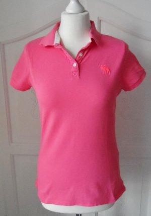 orig. Abercrombie & Fitch Poloshirt Gr. L Pink wenig getragen