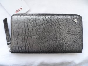 abro Wallet silver-colored leather