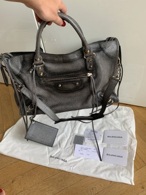 Orig BALENCIAGA City Bag grau wNeu Shopper Shopping Tote 1450€
