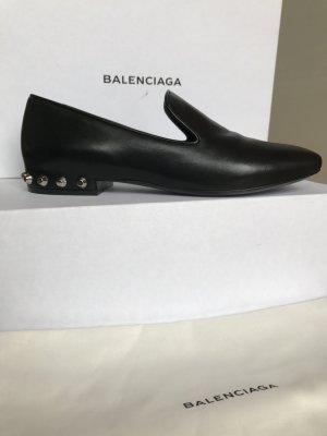 Orig. BALENCIAGA Loafer Slipper schwarz Neu 37,5 Nieten 490€ studded Ballerinas