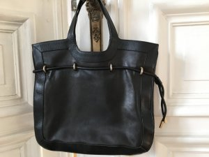 Bally Handbag black-silver-colored leather