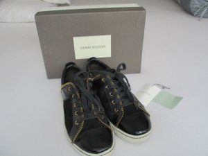 Orig Balmain Sneaker Leder/Lack weiße Sohle Zierreißverschluss 40 NP 419€