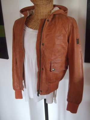 Belstaff Leather Jacket dark orange leather