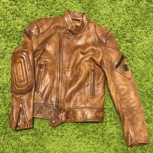 Belstaff Chaqueta de motociclista color bronce Cuero