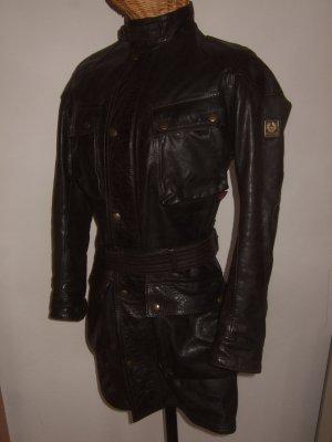 Belstaff Leather Jacket black-black brown leather