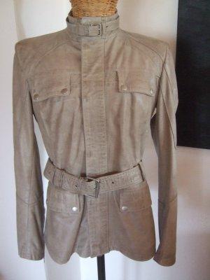 Belstaff Leather Jacket light grey-grey leather