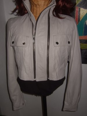 Belstaff Leather Jacket light grey-silver-colored leather