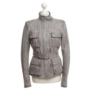 Belstaff Veste en cuir gris clair-gris cuir