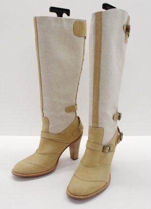 Belstaff Heel Boots oatmeal-cream leather