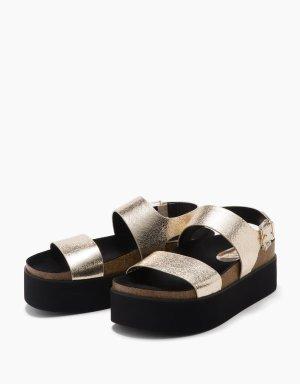 Bershka Platform Sandals multicolored
