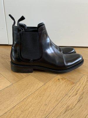 Hugo Boss Chelsea laarzen zwart Leer