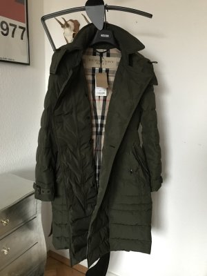 Orig BURBERRY TRENCHCOAT Wintermantel Daunenmantel Mantel Jacke grün Neu M 38