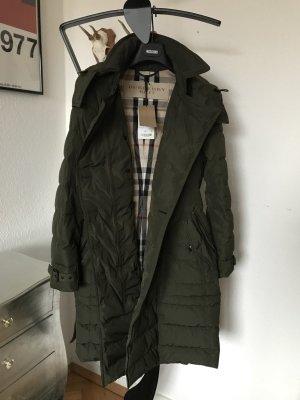 Orig BURBERRY TRENCHCOAT Wintermantel Daunenmantel Mantel Jacker grün Neu M 38