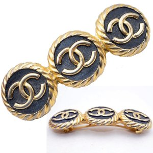 Chanel Hair Clip gold-colored