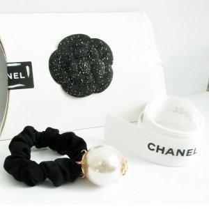 Chanel Cinta para el pelo gris claro-negro