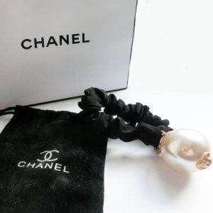 Chanel Nastro per capelli nero-grigio chiaro