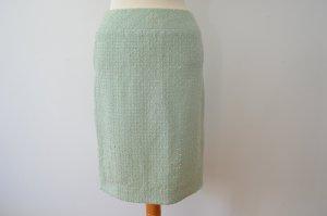 Orig. CHANEL Bouclé Sommer Tweedrock in mintgrün Tweed  FR 36 D 34 knielang