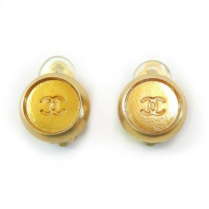 ORIG. CHANEL CC LOGO OHRRINGE OHRCLIPS GOLD PLATED / SELTEN / GUT