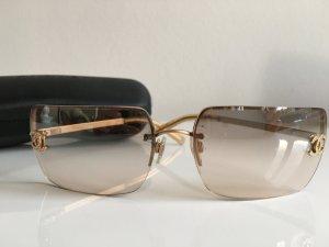 Orig. Chanel CC Logo Sonnenbrille Brille Swarovski Steine Case