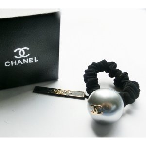Chanel Ribbon silver-colored-light grey