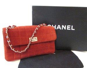 Chanel Borsa a tracolla carminio-argento Pelle