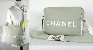 ORIG. CHANEL NYLON Quilted LOGO BAG