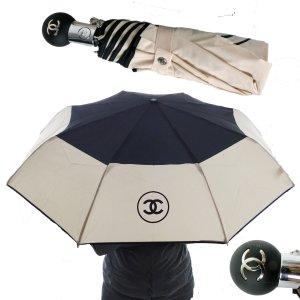 Chanel Folding Umbrella cream-black