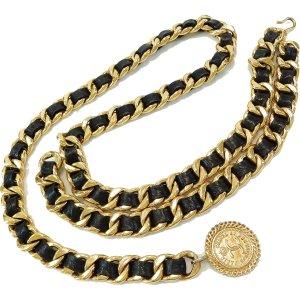Chanel Kettingriem goud-zwart