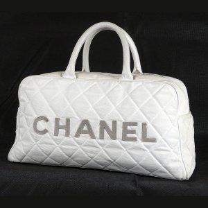 Chanel Handbag white-grey leather