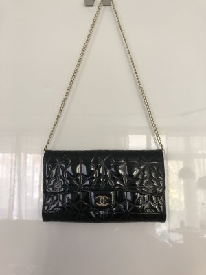 Orig. Chanel Wallet on Chain schwarz Lackleder