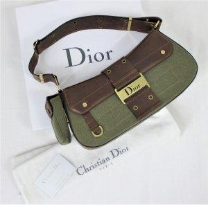Orig. Christian Dior Bag /Schultertasche/Leder-Textil-Denim/mit RECHNUNG! Hervorragend!