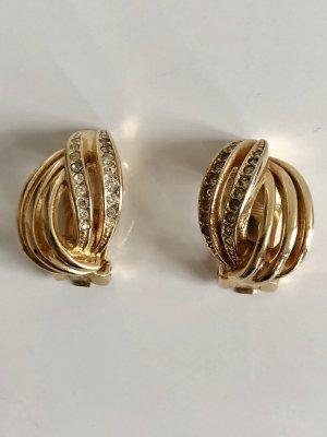 Dior Orecchino a clip oro-bianco