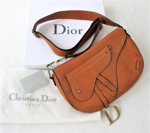 Orig. Christian Dior Saddle-Bag/Crossbody-Bag / Schultertasche / Lammleder/Karamelbraun/TOP ZUSTAND!