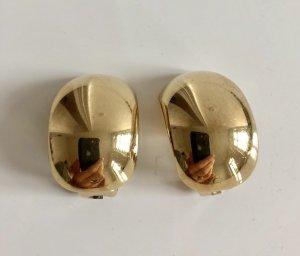 Orig. Christian Dior XL Designer Ohrclips gold Clips Ohrringe vergoldet