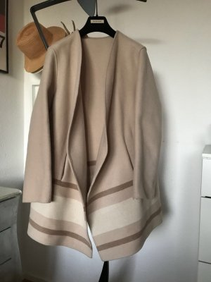 Orig CLOSED Mantel Poncho Cape beige 100% Wolle Wintermantel Gr.M 38/40 wNeu